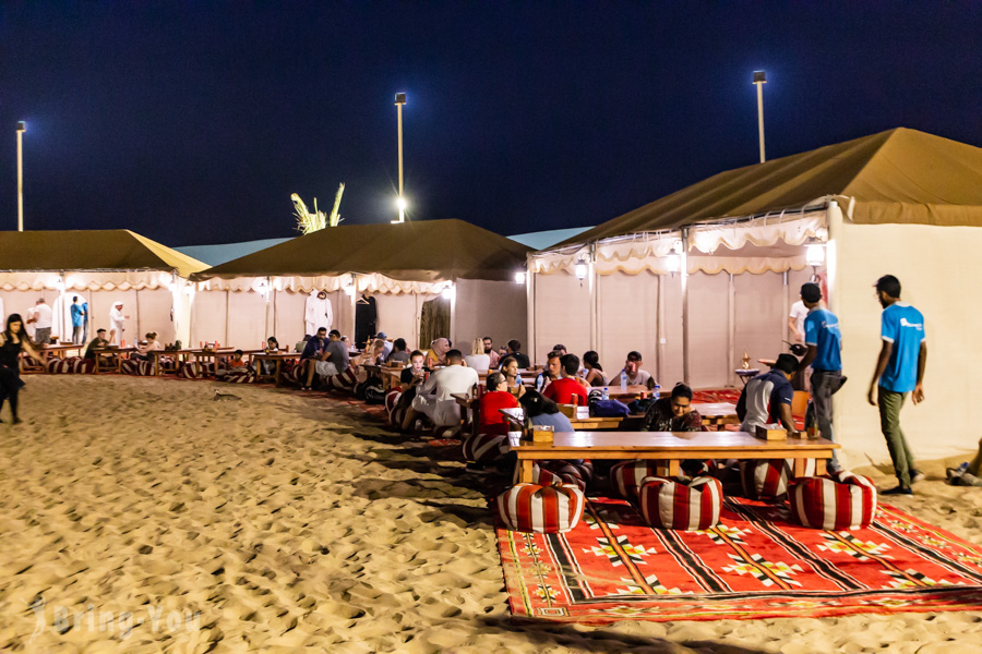 杜拜沙漠飆沙傍晚帳篷活動
