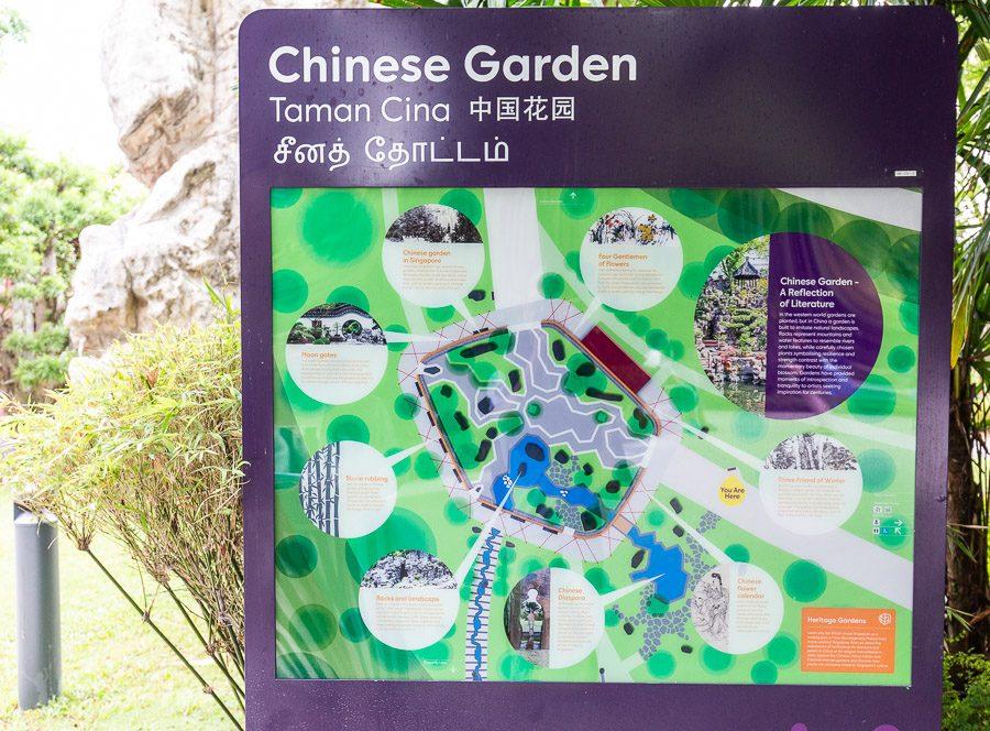 新加坡濱海灣花園地圖