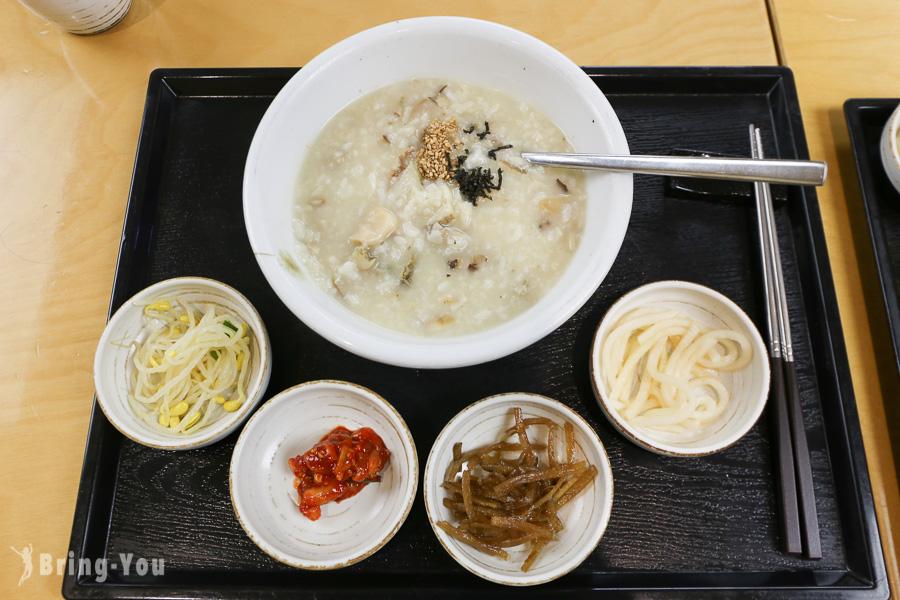【韓國明洞美食】味加本粥蔘雞湯:首爾超養身人蔘雞粥、松蘑鮑魚粥