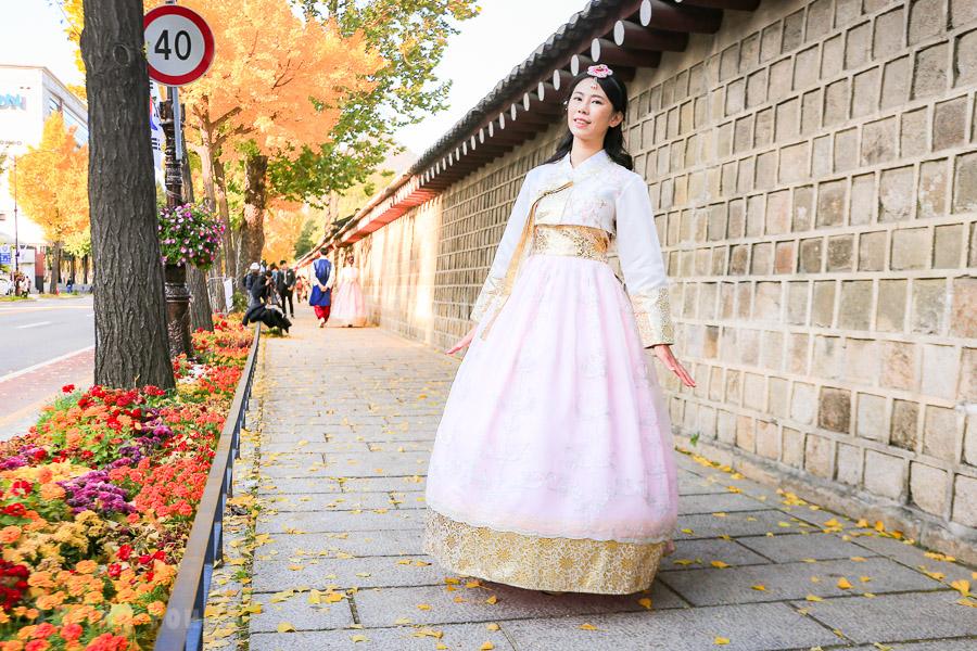 【首爾自由行】仁寺洞傳統韓服租借體驗推薦 – Hanbok Dan(含編髮、化妝)
