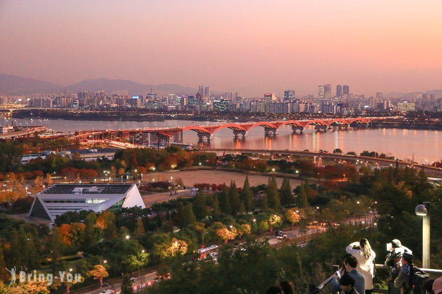 首爾天空公園粉紅黛子草、波波草