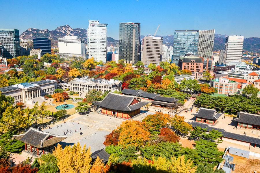 【首爾景點】德壽宮:貞洞眺望台、秋天石牆路楓葉、探訪韓國宮殿