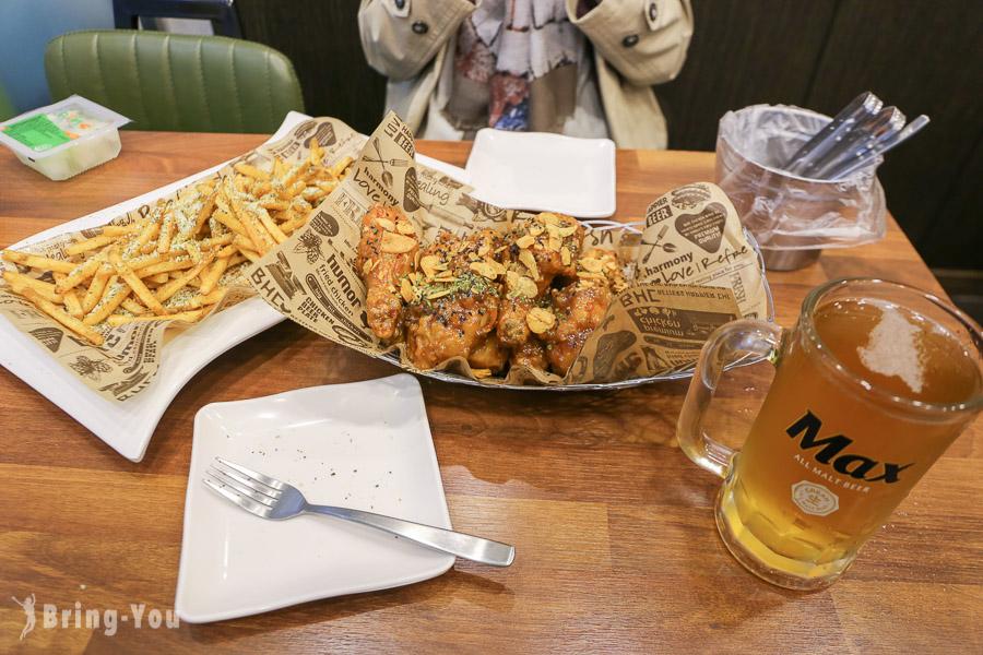 【韓國必吃美食】BHC炸雞,菜單推薦:蒜味炸雞+蒜香薯條(釜山西面店)