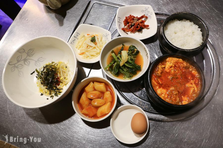 【首爾明洞美食】韓國老字號嫩豆腐湯「庭院嫩豆腐鍋(정원순두부)」