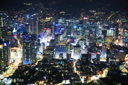 【韓國首爾景點】南山首爾塔看夜景怎麼去 - 走路+纜車交通方式、購票、賞楓分享