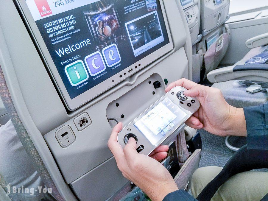 阿聯酋航空A380經濟艙機上娛樂