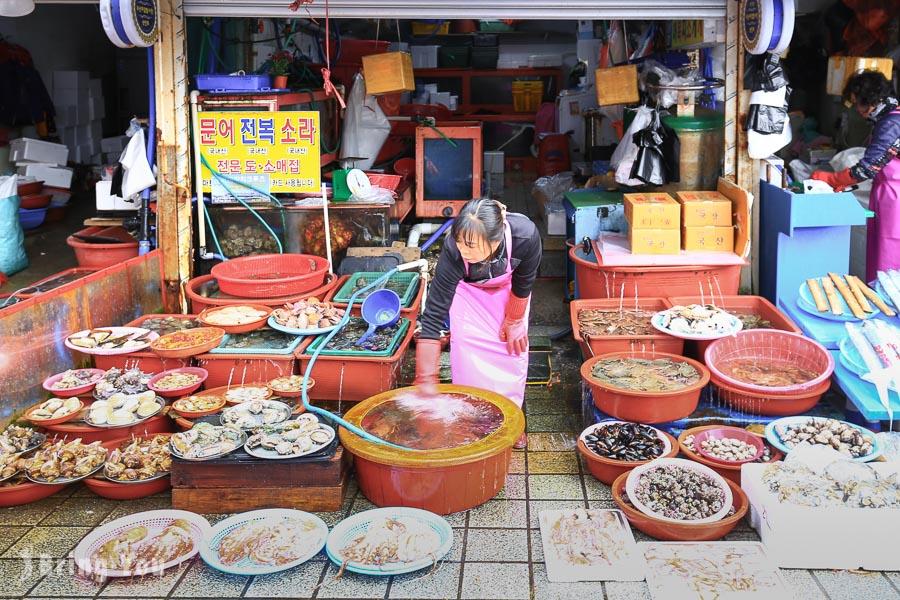 【釜山】札嘎其市場:來去韓國最大的海鮮市場吃帝王蟹