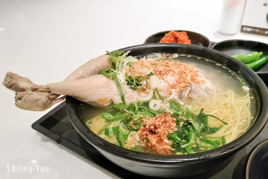 【釜山】西面人蔘雞餐廳:樂天百貨B2美食街平價一隻雞湯麵「원가회관」
