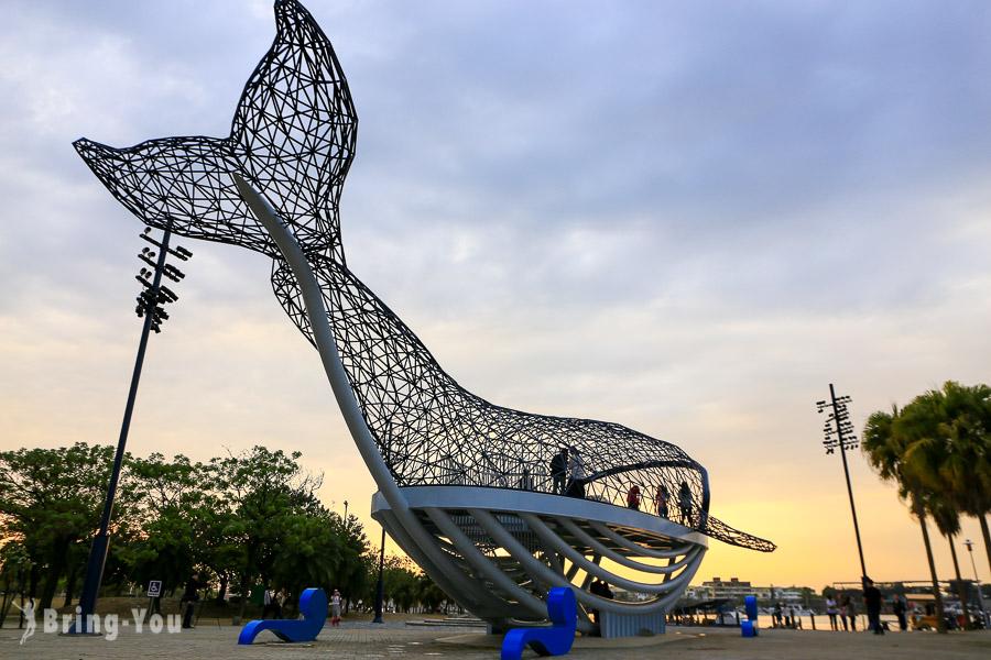 【台南新景點】大魚的祝福:來去安平港濱歷史公園走進鯨魚肚子裡