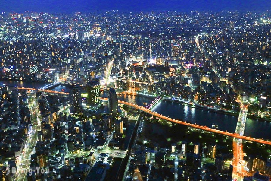 【東京晴空塔SkyTree】瞭望台門票、押上交通攻略,東京看夜景、看夕陽地標展望台景點
