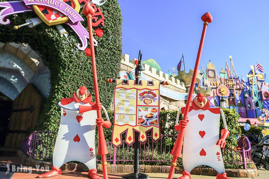 【東京迪士尼餐廳】愛麗絲夢遊仙境「Queen Hearts 紅心皇后宴會餐廳」