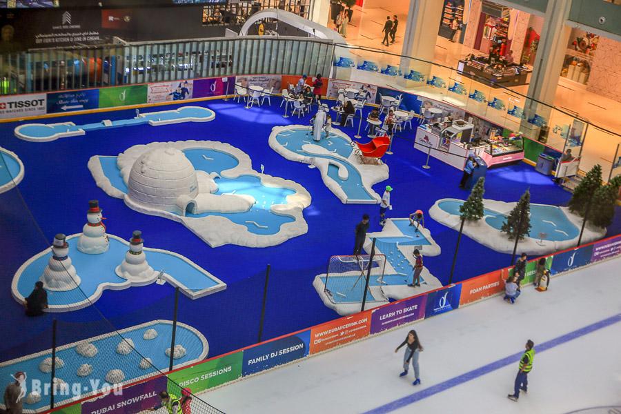 杜拜購物中心滑冰