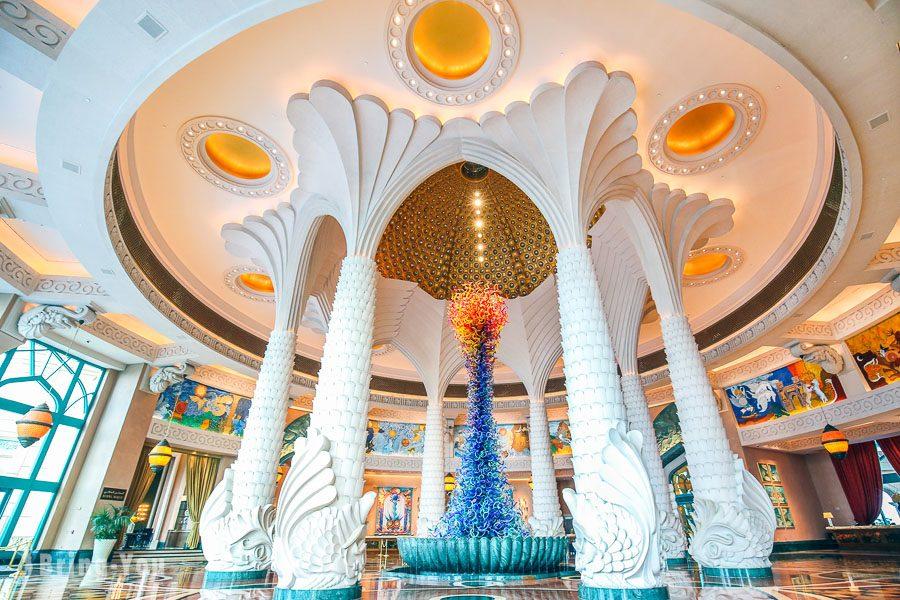 杜拜棕櫚島亞特蘭蒂斯飯店Dale Chihuly燒玻璃作品
