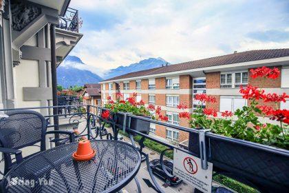 【茵特拉根住宿選擇建議】Carlton Europe Hotel,Interlaken Ost車站附近復古風歐洲卡爾頓酒店