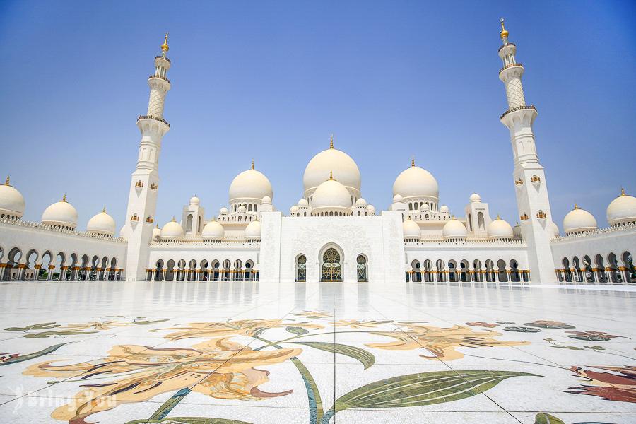 【阿布達比】謝赫扎耶德大清真寺 Sheikh Zayed Grand Mosque:必看景點介紹&服裝穿搭規定
