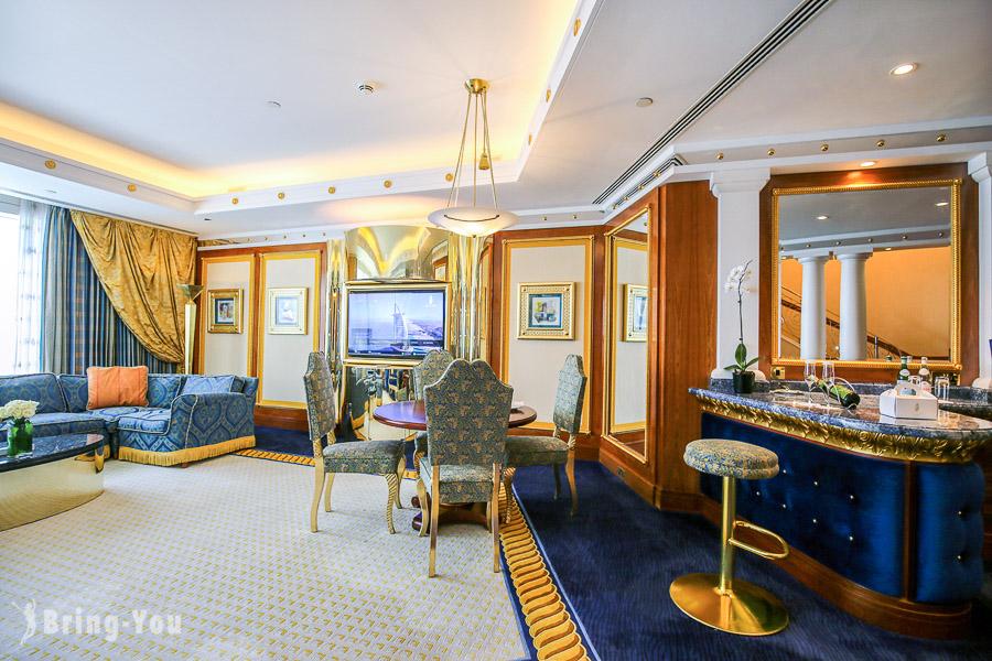 【帆船飯店Burj Al Arab】超奢華杜拜七星級住宿樓中樓房間大公開
