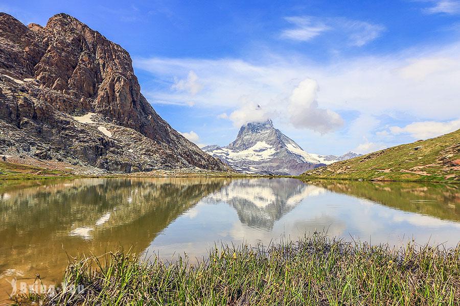 【瑞士策馬特】Riffelsee利菲爾湖健行拍攝馬特洪峰倒影、Riffelberg尋找黑面羊