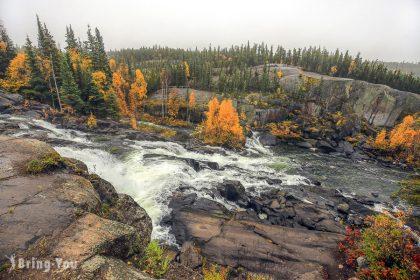 【黃刀鎮白天景點】Cameron Falls hiking,加拿大卡麥隆瀑布健行