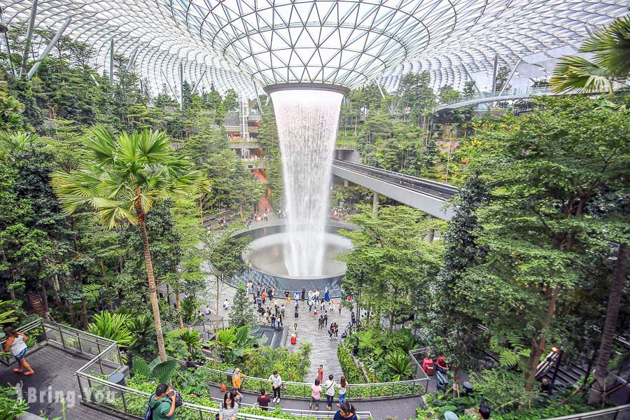 【星耀樟宜 Jewel Changi Airport】新加坡樟宜機場必拍室內瀑布時間、燈光秀、好玩景點、美食餐廳攻略