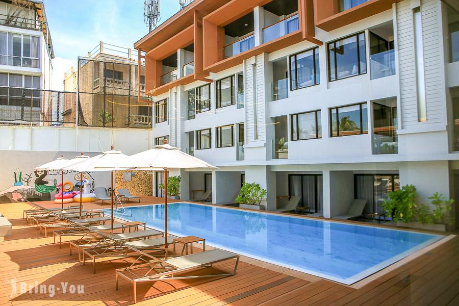 【普吉島住宿】LIV Hotel Phuket Patong,飯店對面就是芭東海灘好放鬆
