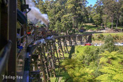 【墨爾本郊區景點】普芬比利蒸汽火車攻略,19 世紀復古古董 Puffing Billy Railway