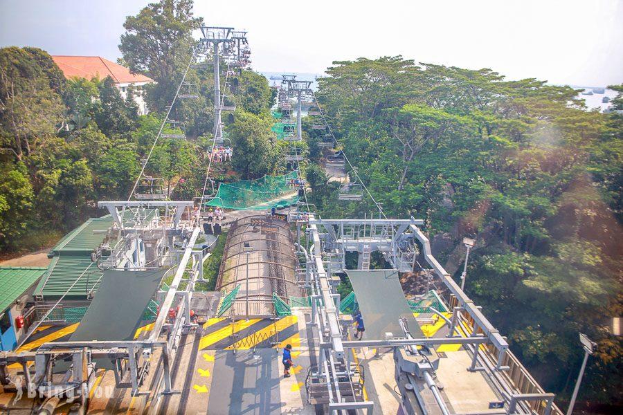 新加坡花柏山珠寶盒纜車魚尾獅站