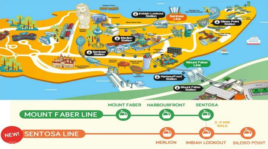 新加坡空中纜車路線地圖