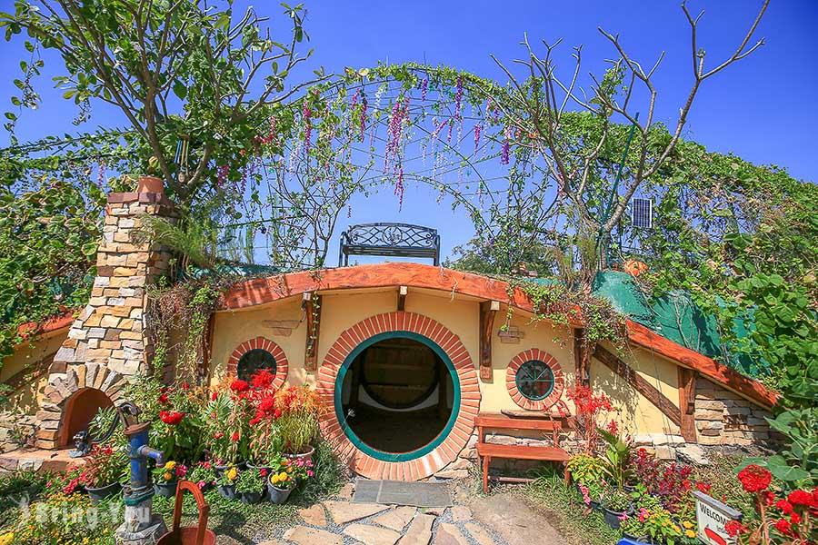 【考艾景點】進入魔戒夏爾哈比人之家Hobbit House參觀,哈比洞超可愛的