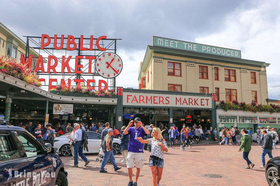 【美國】西雅圖派克市場逛街攻略:走訪超噁心 Pike Place Market 口香糖牆