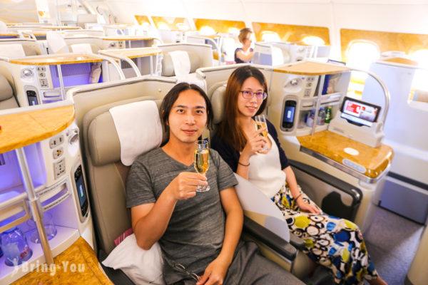 【阿聯酋航空商務艙】Emirates A380 台北飛杜拜飛行體
