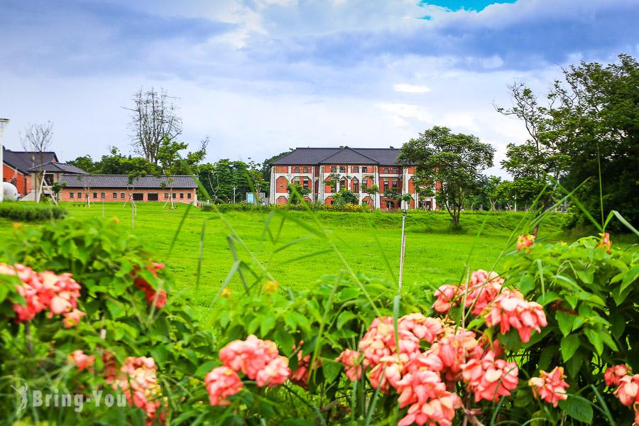 【台南新景點】山上花園水道博物館介紹:日式紅磚建築與IG打卡快濾筒室