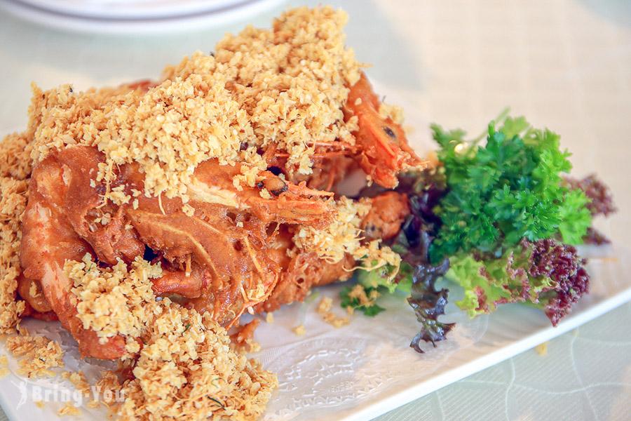 新加坡怡豐城無招牌海鮮餐廳麥片蝦