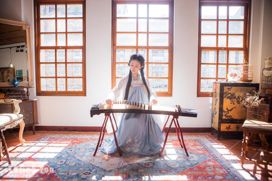 【台灣漢服體驗】台北漢服寫真攝影:穿越唐朝穿上齊胸襦裙拍出仙氣的妳