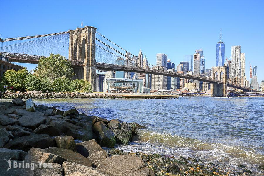 【布魯克林大橋散步景點】Brooklyn Bridge 公園拍照角度、順遊文青風紐約DUMBO 區