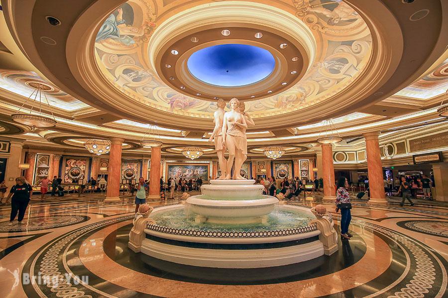 【拉斯維加斯四星級住宿】凱薩皇宮飯店Caesars Palace,古羅馬風格凱薩皇宮購物中心超好逛