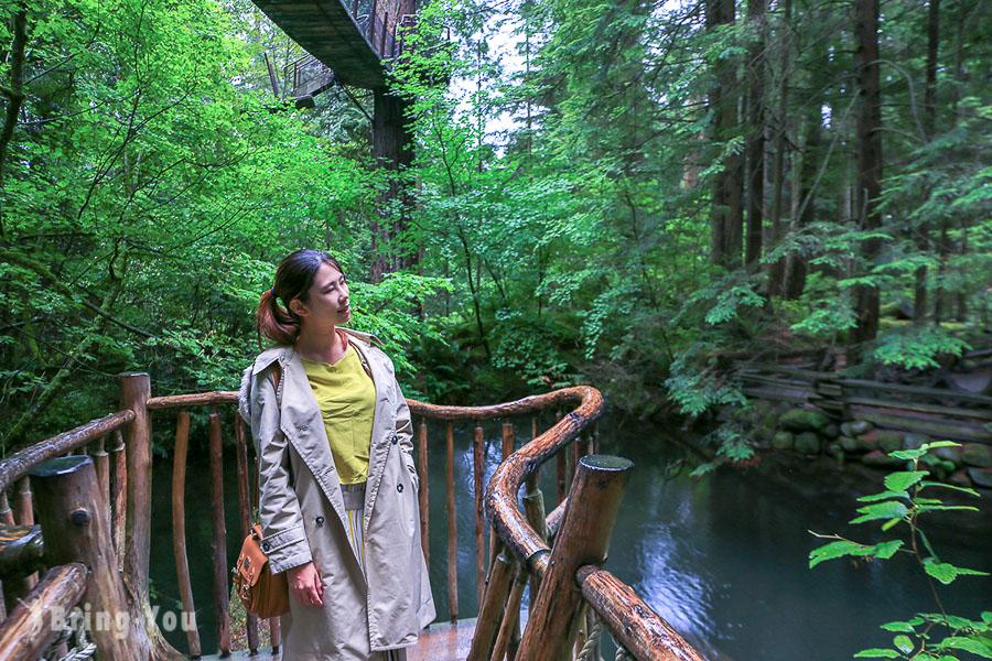 【北溫哥華景點】卡皮拉諾吊橋公園絕美森林秘境一日遊遊記分享 Capilano Suspension Bridge Park