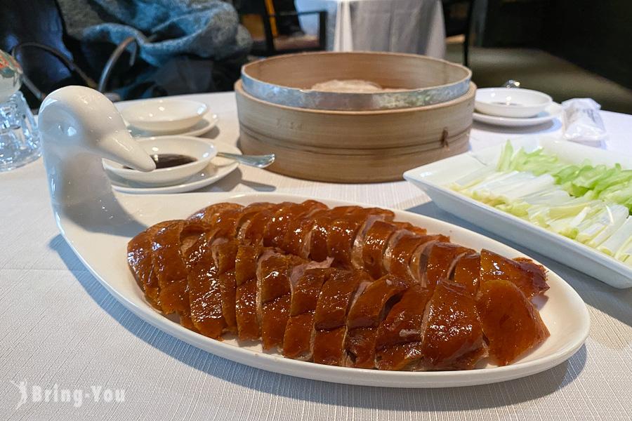 香宮|香格里拉台北遠東國際大飯店粵菜餐廳,拿下台北米其林餐盤美食必吃果木掛爐脆皮烤鴨 一鴨二吃