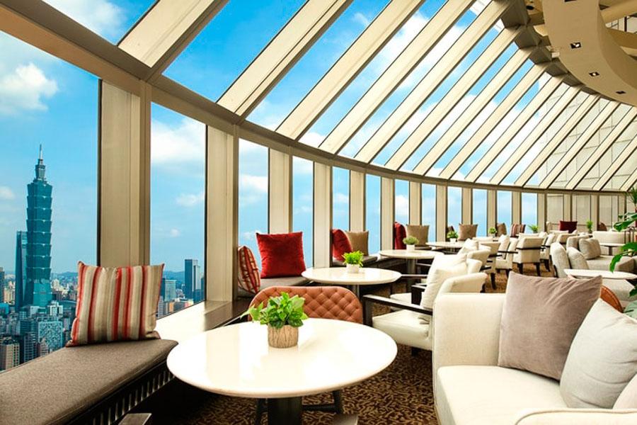 香格里拉台北遠東國際大飯店|豪華閣貴賓廊下午茶、101窗景房型、馬可波羅酒廊Happy Hour 開箱