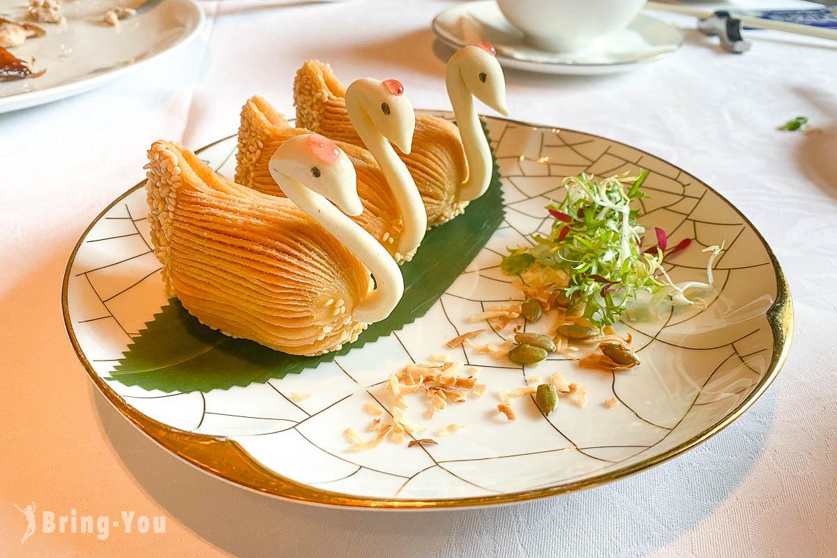 雅閣|台北文華東方酒店中餐廳推薦,台北米其林一星餐廳脆皮雞好好吃