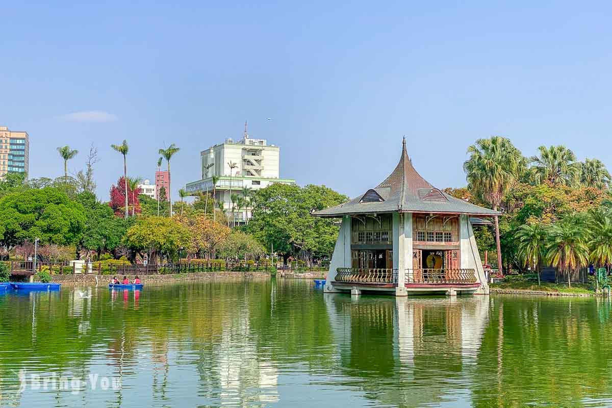臺中公園|台中情侶約會景點,地標湖心亭超好拍,還有划船遊湖、浪漫水舞秀