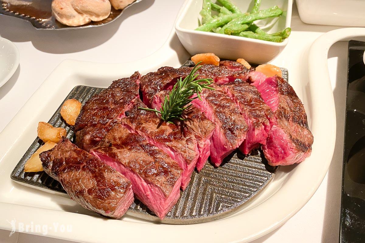 歐華酒店地中海牛排館|濕式熟成黑神戶肋眼牛排午餐雙人套餐